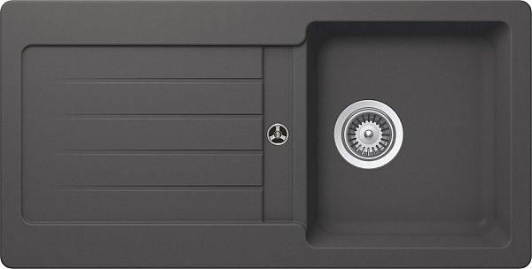 sp le einbau granit schock typos d 100 s sp lbecken 86 x 43 5 klein granitsp le ebay. Black Bedroom Furniture Sets. Home Design Ideas