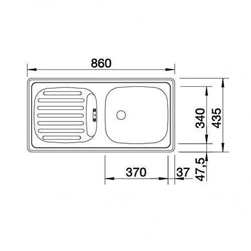 sp le 860 x 435 mm inkl ab berlaufgarnitur k che einbau ebay. Black Bedroom Furniture Sets. Home Design Ideas