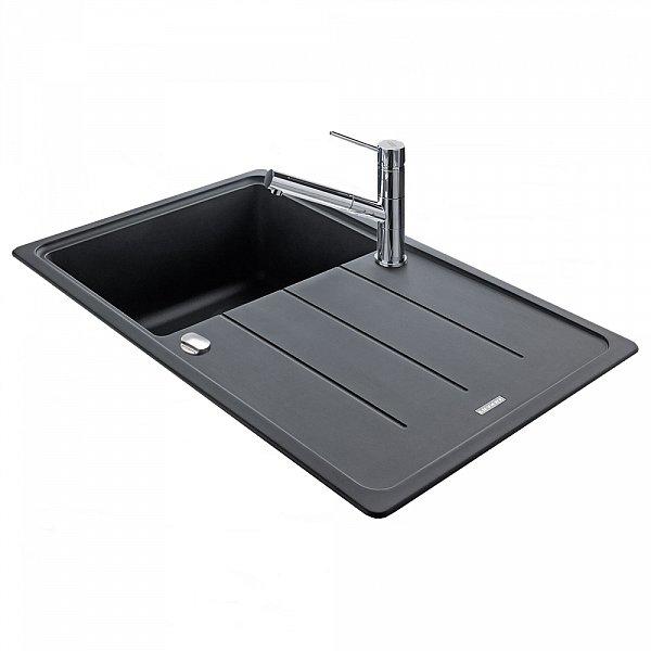 franke fragranit sp le 860 x500 graphit schwarz k che. Black Bedroom Furniture Sets. Home Design Ideas