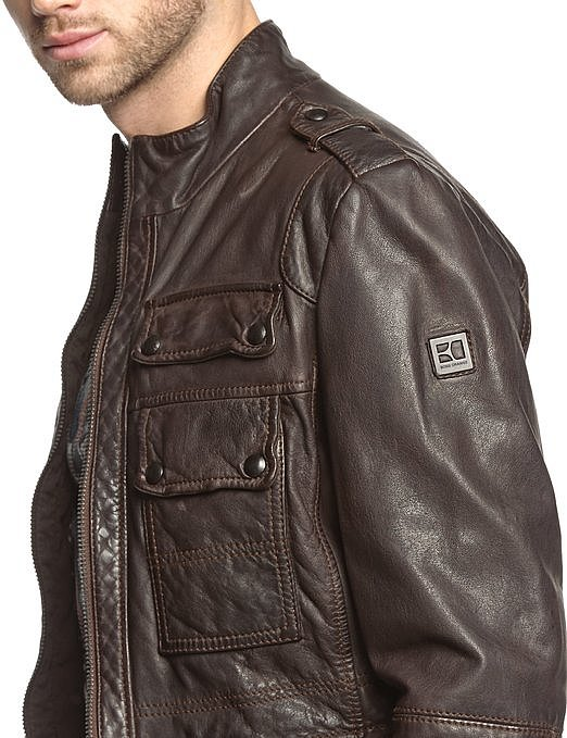 herren lederjacke hugo boss jump jacke leather jacket men in schwarz oder braun ebay. Black Bedroom Furniture Sets. Home Design Ideas