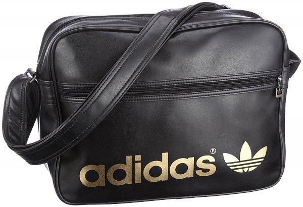 originals adidas tasche adicolor airliner bag schwarz gold. Black Bedroom Furniture Sets. Home Design Ideas