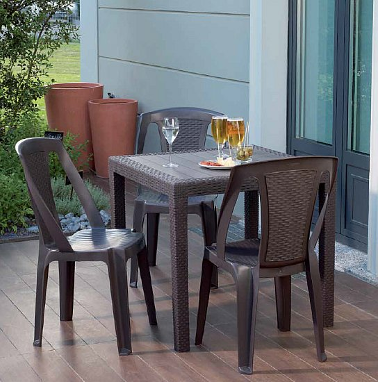 gartentisch king rattan optik 2 4 personen balkontisch terrassentisch. Black Bedroom Furniture Sets. Home Design Ideas