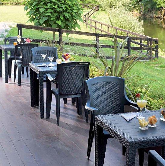 gartentisch king rattan optik 2 4 personen balkontisch. Black Bedroom Furniture Sets. Home Design Ideas