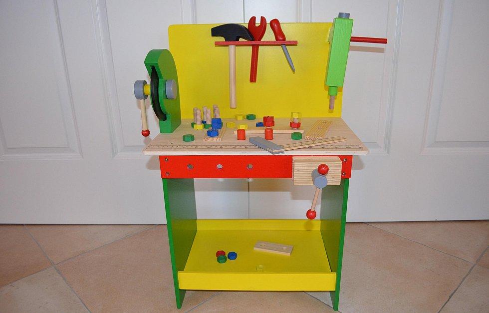 kinderk che kinderwerkbank holzk che werkbank holz marionette wooden toys ebay. Black Bedroom Furniture Sets. Home Design Ideas