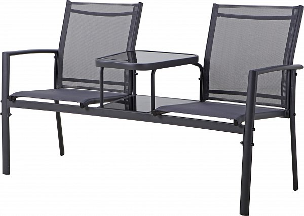 gartenbank sitzbank gartenm bel metallbank bank parkbank glastisch 150 cm ebay. Black Bedroom Furniture Sets. Home Design Ideas