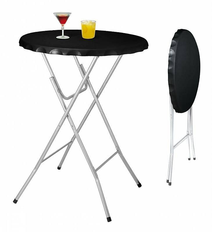 stehtisch partytisch tisch klappbar rund 80 cm schwarz ebay. Black Bedroom Furniture Sets. Home Design Ideas