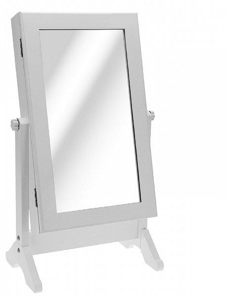 schmuckschrank tischspiegel standspiegel spiegel schmuckkasten wei 62x30x15 cm ebay. Black Bedroom Furniture Sets. Home Design Ideas