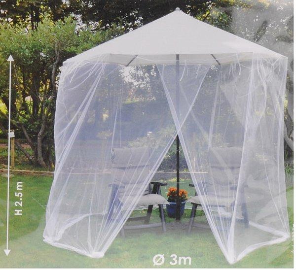 moskitonetz m ckennetz fliegennetz c200 f r sonnenschirm 3 meter c200 ebay. Black Bedroom Furniture Sets. Home Design Ideas