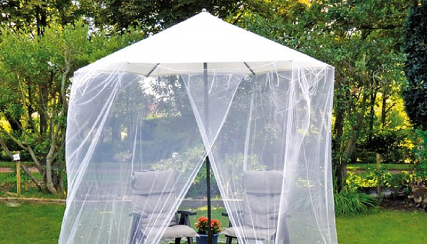 moskitonetz m ckennetz fliegennetz f r sonnenschirm 3. Black Bedroom Furniture Sets. Home Design Ideas