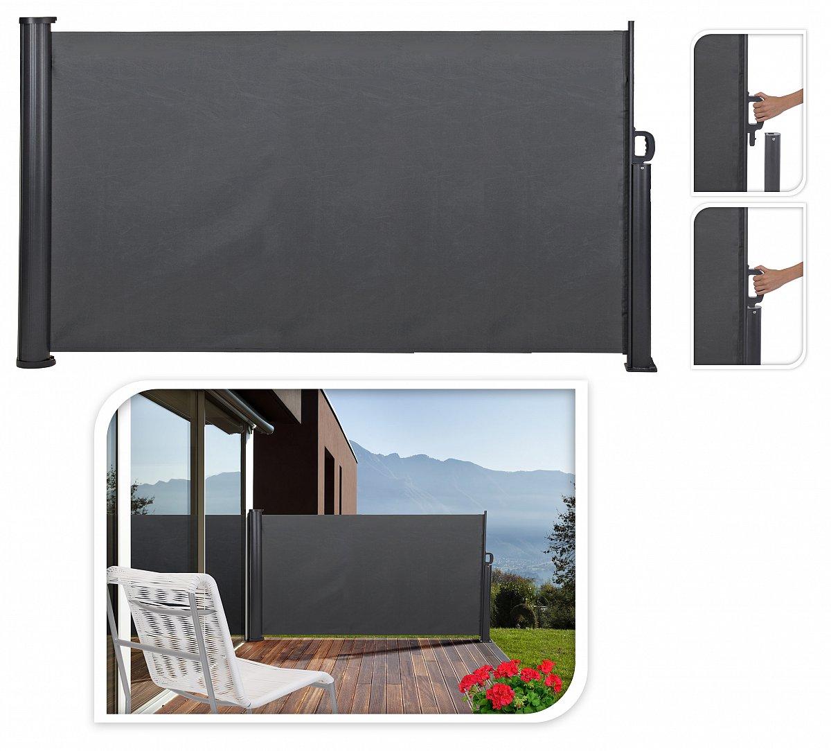 sichtschutz seitenmarkise windschutz sonnenschutz markise seitenwand f590 ebay. Black Bedroom Furniture Sets. Home Design Ideas