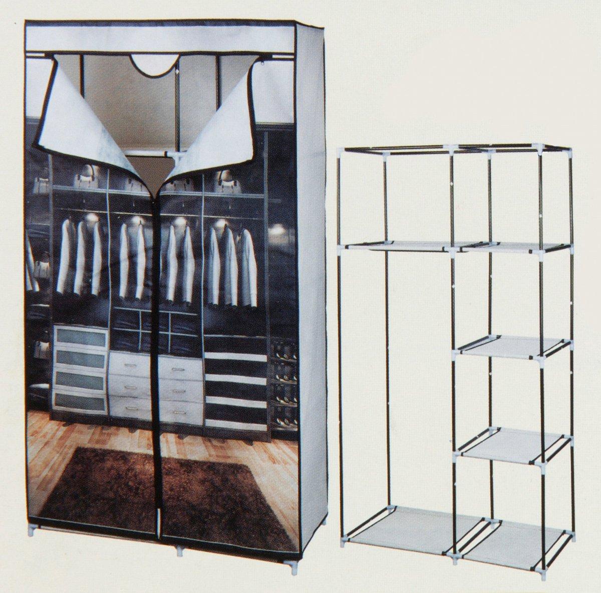 kleiderschrank schrank faltschrank stoff textilschrank. Black Bedroom Furniture Sets. Home Design Ideas