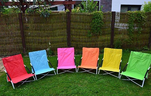 strandstuhl gartenstuhl campingstuhl klappstuhl 6 farben tasche ebay. Black Bedroom Furniture Sets. Home Design Ideas