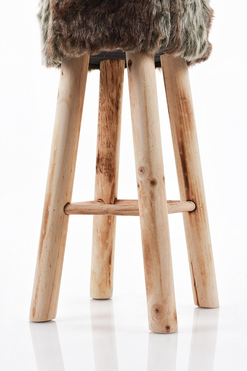 2 x barhocker barst hle hocker schemel polsterhocker vintage 70 cm braun u101 ebay. Black Bedroom Furniture Sets. Home Design Ideas