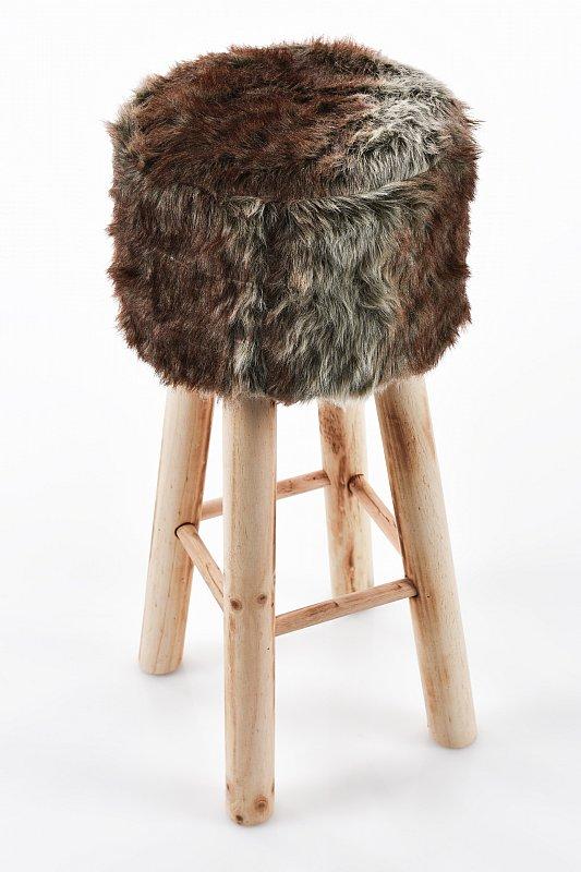 Barhocker barstuhl stuhl fellhocker polsterhocker vintage for Barhocker 70 cm hoch