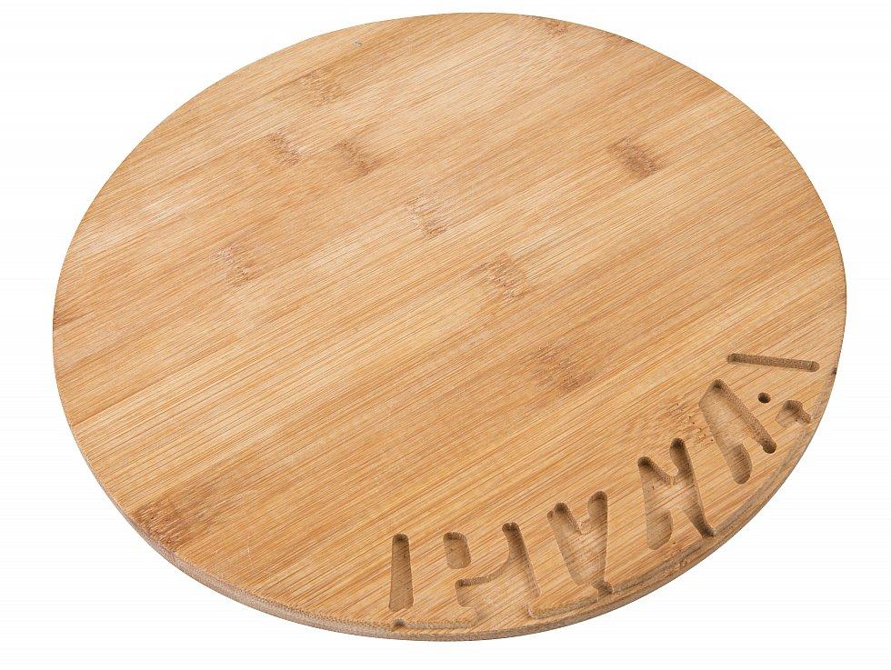 4 pizzabretter schneidebrett pizzateller bambus rund holzbrett f6000. Black Bedroom Furniture Sets. Home Design Ideas