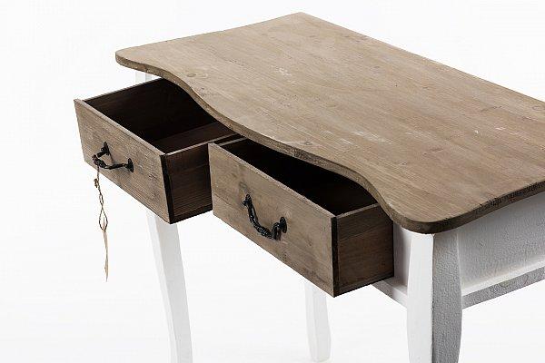 konsole konsolentisch anrichte kommode schminktisch shabby chic braun wei c654. Black Bedroom Furniture Sets. Home Design Ideas