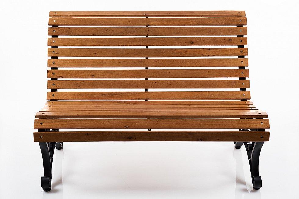 gartenbank bank parkbank holzbank sitzbank metall holz 122 x 85 cm x250 ebay. Black Bedroom Furniture Sets. Home Design Ideas