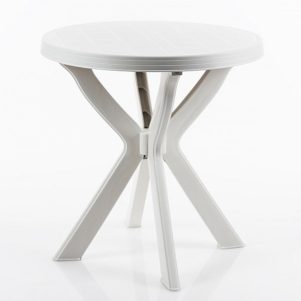 gartentisch beistelltisch campingtisch balkontisch tisch wei rund 70 cm 0000 ebay. Black Bedroom Furniture Sets. Home Design Ideas