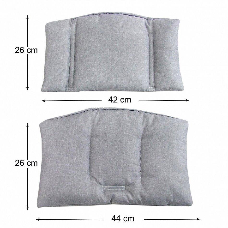 2 tlg sitzkissen sitzverkleinerer f r stokke tripp trapp hochstuhl uni farben ebay. Black Bedroom Furniture Sets. Home Design Ideas