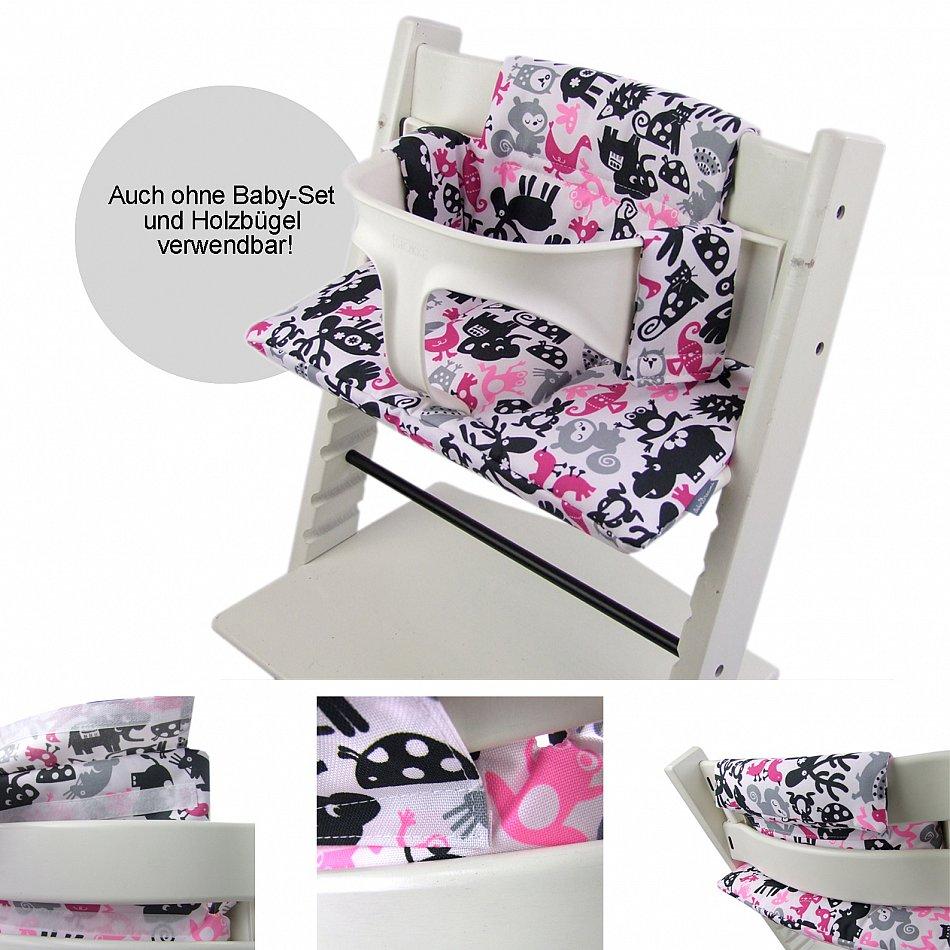 sitzkissen auflage bezug ersatzkissen ersatzbezug bezug f r stokke tripp trapp ebay. Black Bedroom Furniture Sets. Home Design Ideas
