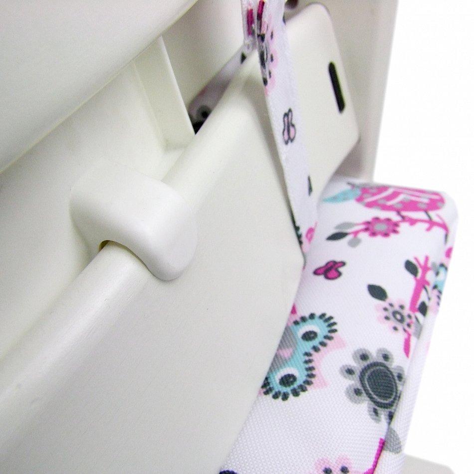 2 tlg sitzkissenset sitzverkleinerer f r tripp trapp hochstuhl mit eule eulen ebay. Black Bedroom Furniture Sets. Home Design Ideas