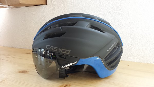 casco speedster mit visier rennradhelm gr m 54 58 cm. Black Bedroom Furniture Sets. Home Design Ideas
