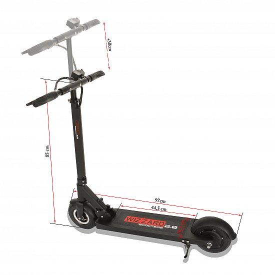 wizzard 2 0 city scooter elektro balance scooter roller. Black Bedroom Furniture Sets. Home Design Ideas