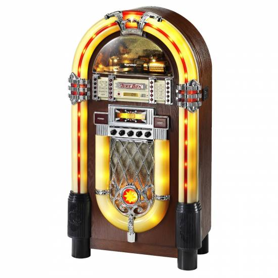 karcher jb6604 jukebox mit lightshow cd mp 3 player radio. Black Bedroom Furniture Sets. Home Design Ideas