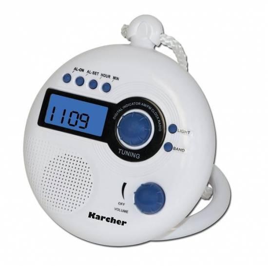 karcher dr 12 badradio duschradio 2 band radio ukw mw lcd uhr gro e lautsprecher. Black Bedroom Furniture Sets. Home Design Ideas