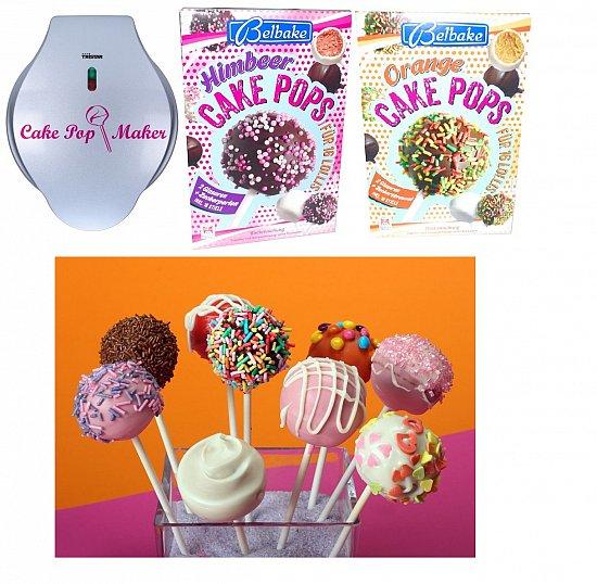 popcake maker inkl backmischung rezept stiele cake pop maker cakepops babycakes ebay. Black Bedroom Furniture Sets. Home Design Ideas