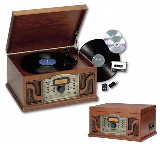 nostalgie stereoanlage retro holz musikanlage cd mp3 usb radio plattenspieler ebay. Black Bedroom Furniture Sets. Home Design Ideas