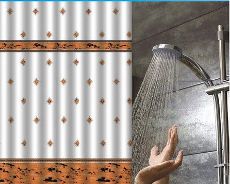 Textil Vorhang Dusche : Details zu Duschvorhang Textil inkl. Ringe Vorhang f?r Dusche 240 x