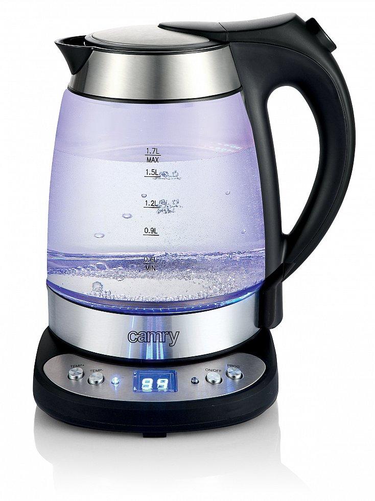 glas edelstahl wasserkocher mit temperatur wahl und led  ~ Wasserkocher Zu Verschenken