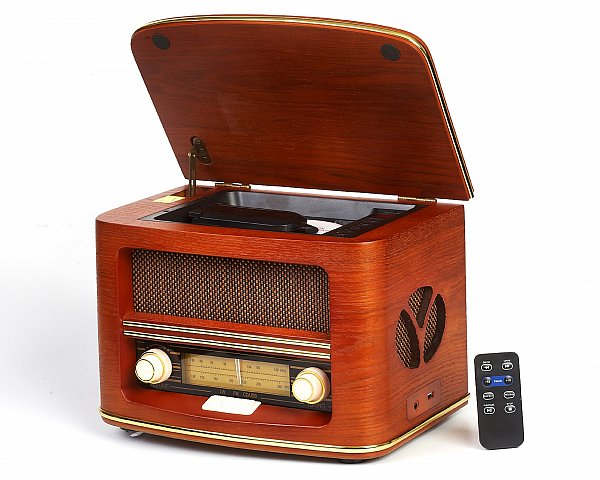 neu nostalgie radio holz classic retro cd player usb. Black Bedroom Furniture Sets. Home Design Ideas