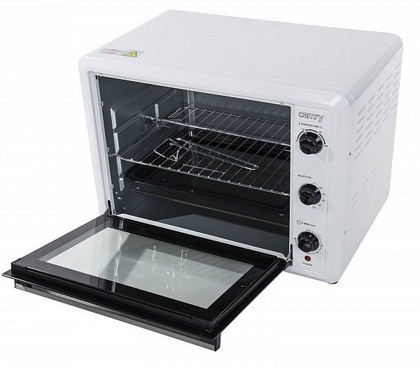 60 liter backofen mit drehspie umluft timer mini pizza. Black Bedroom Furniture Sets. Home Design Ideas