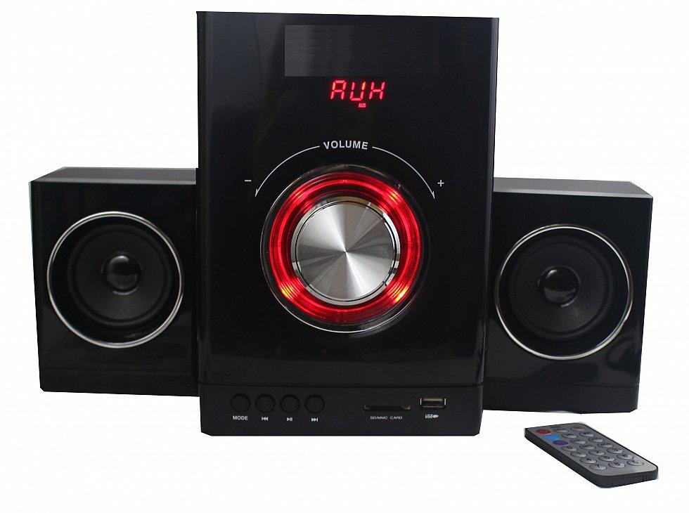 multimedia design 2 1 sound system kompaktanlage stereoanlage hifi musikanlage ebay. Black Bedroom Furniture Sets. Home Design Ideas
