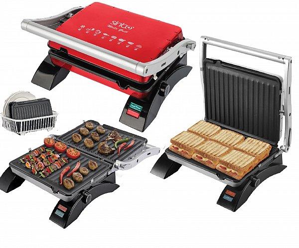 edelstahl kontaktgrill sandwichtoaster toastgrill tischgrill elektrogrill neu ebay. Black Bedroom Furniture Sets. Home Design Ideas