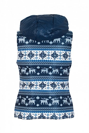 266 damen daunenweste steppweste daune weste norweger muster blau ebay. Black Bedroom Furniture Sets. Home Design Ideas
