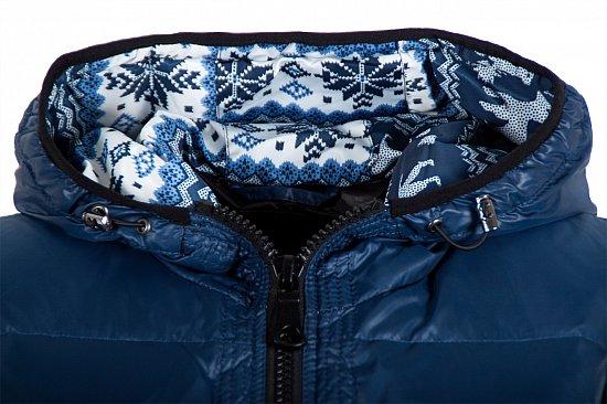 l266 damen daunenweste steppweste weste norweger muster gr 34 36 38 40 42 blau ebay. Black Bedroom Furniture Sets. Home Design Ideas