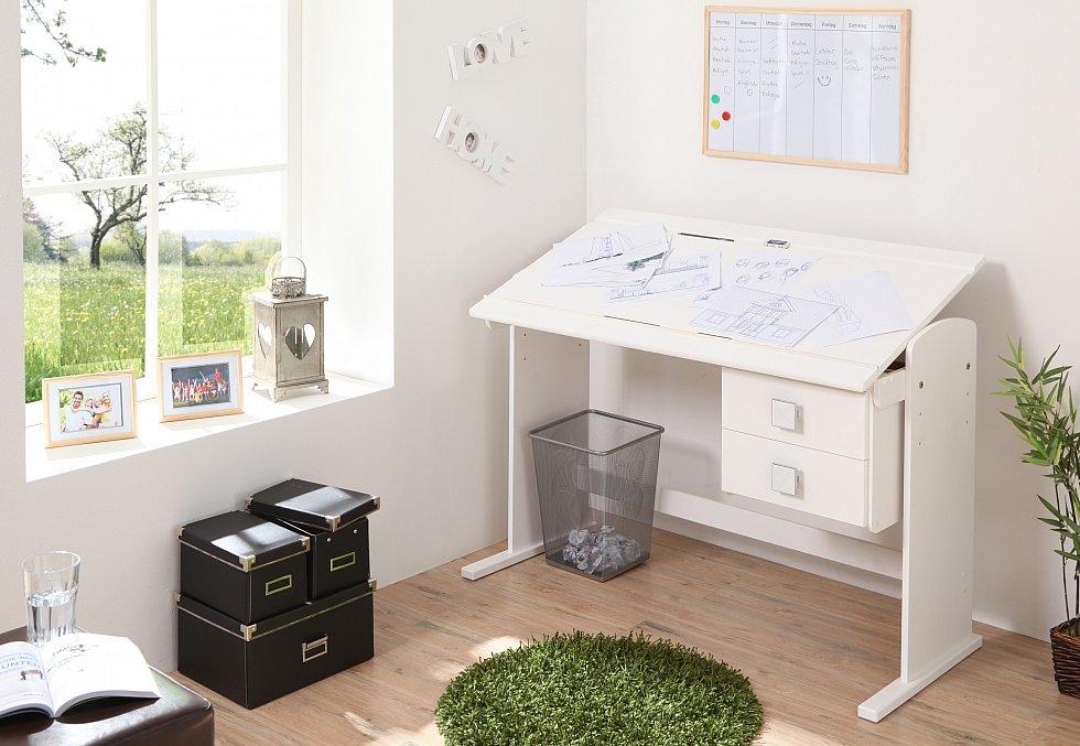angebot funktions schreibtisch kiefer massiv wei sch ler b ware ebay. Black Bedroom Furniture Sets. Home Design Ideas