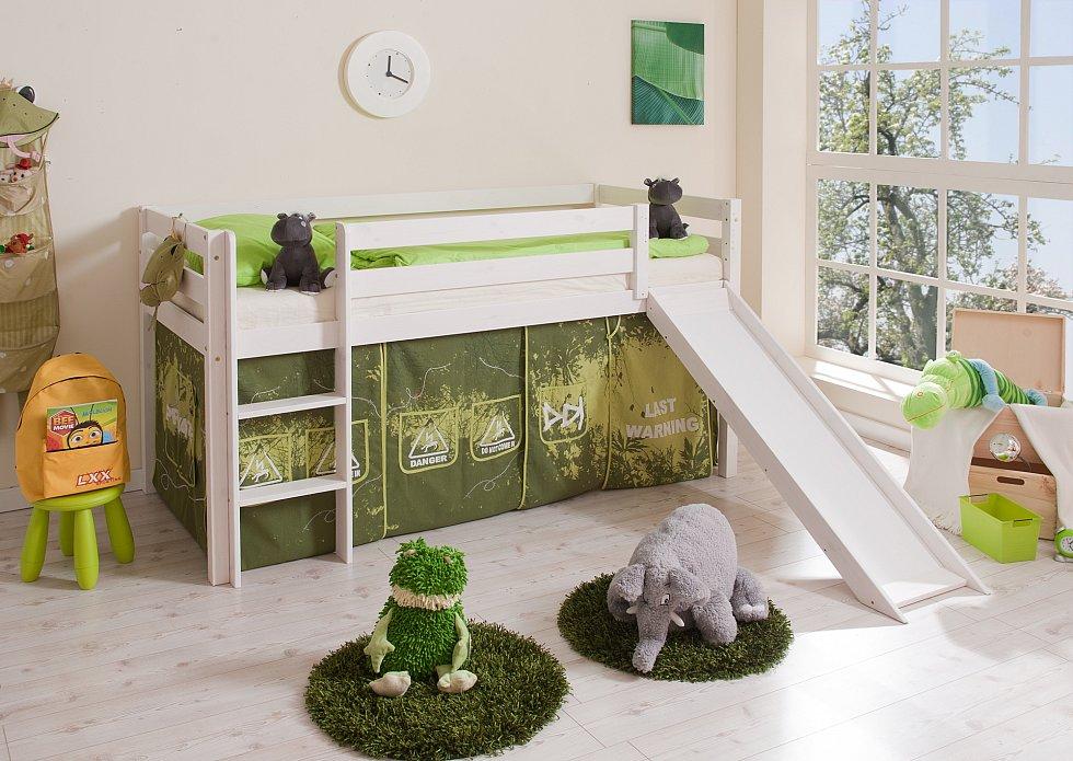 hochbett mit rutsche manuel kiefer massiv rutschbett. Black Bedroom Furniture Sets. Home Design Ideas