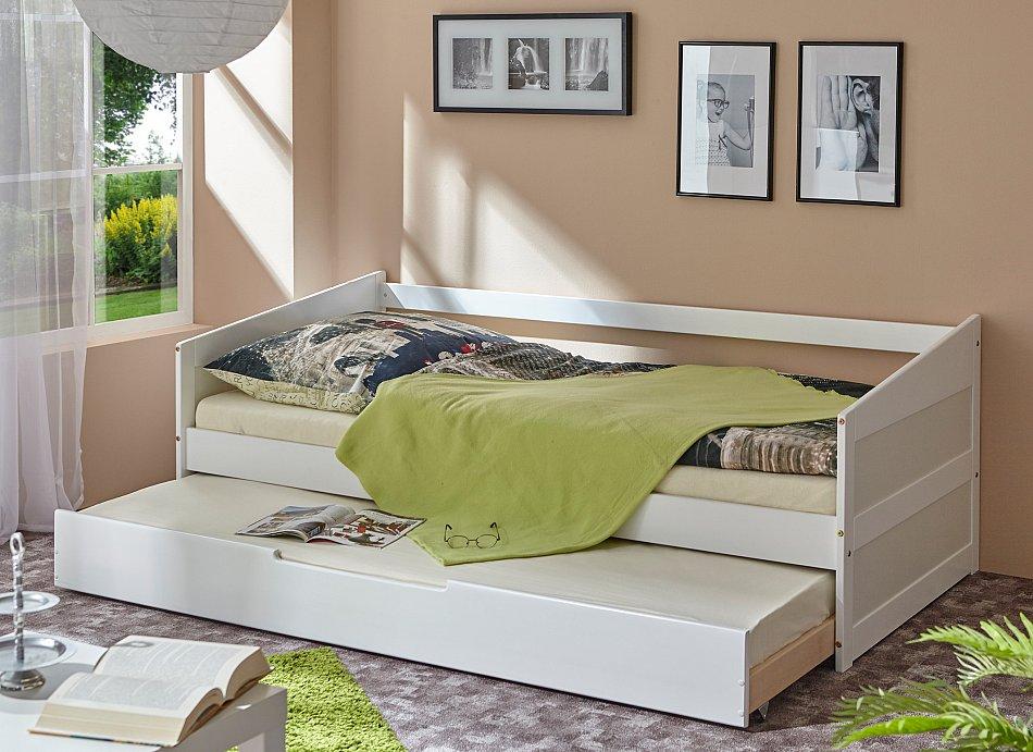 Angebot sofabett mit auszug micki b ware buche wei 90 for Sofabett jugendzimmer