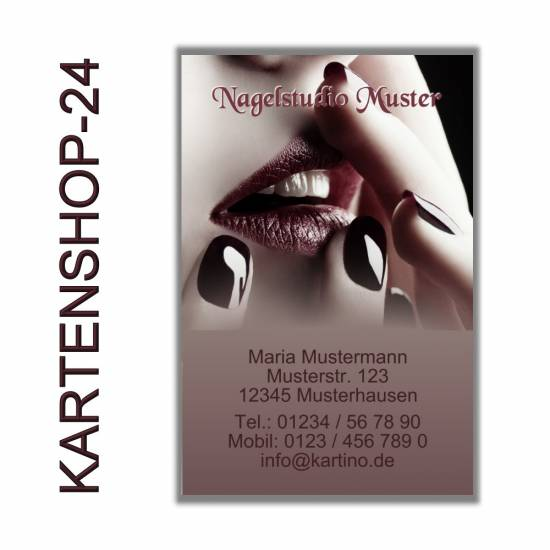1000 Visitenkarten Nagelstudio Nageldesign On Popscreen