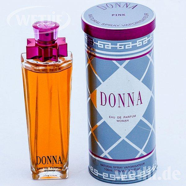 donna pink eau de parfum natural spray 100ml woman 80 voll neu 100 ml ebay. Black Bedroom Furniture Sets. Home Design Ideas
