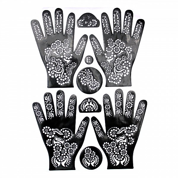 e2 henna schablone mehndi kina tattoo paste d vme bollywood orient muster hand ebay. Black Bedroom Furniture Sets. Home Design Ideas