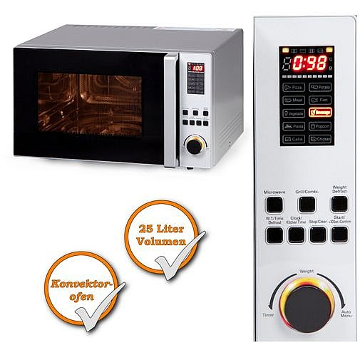 xxl kombi mikrowelle konvektor ofen grillfunktion timer 1450watt 25ltr ebay. Black Bedroom Furniture Sets. Home Design Ideas