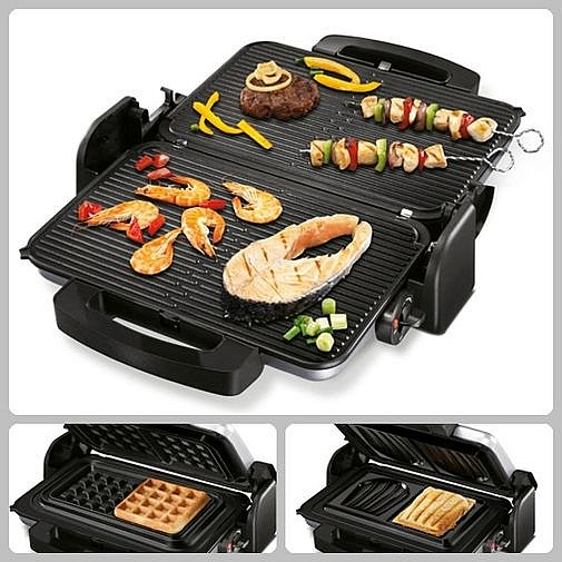 4in1 kontaktgrill paninigrill multifunktionsgrill sandwichmaker waffeleisen neu ebay. Black Bedroom Furniture Sets. Home Design Ideas