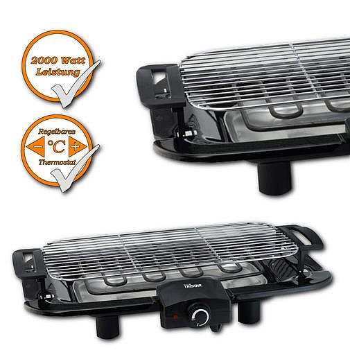 barbecue tischgrill elektrischer grill bbq elektrogrill camping grill 2000watt ebay. Black Bedroom Furniture Sets. Home Design Ideas